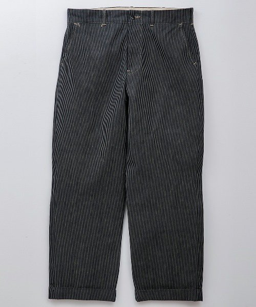 RAGTIME STRIPE DENIM TROUSERS