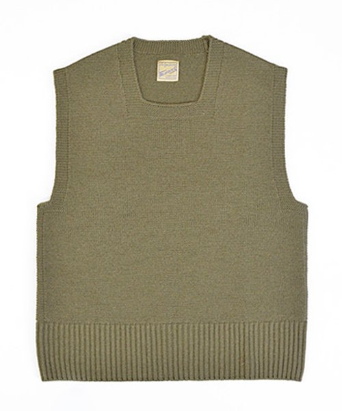 <img class='new_mark_img1' src='https://img.shop-pro.jp/img/new/icons56.gif' style='border:none;display:inline;margin:0px;padding:0px;width:auto;' />RAGTIME CIVILIAN CROSS KNIT VEST SQUARE NECK