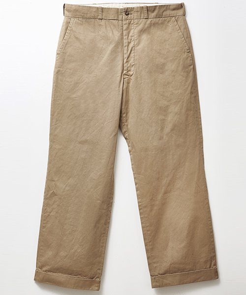 <img class='new_mark_img1' src='https://img.shop-pro.jp/img/new/icons20.gif' style='border:none;display:inline;margin:0px;padding:0px;width:auto;' />RAGTIME CHINO CLOTH TROUSERS(AGED)