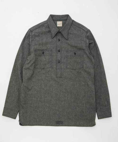 RAGTIME PULLOVER CHAMBRAY SHIRTS (SELVEDGE)
