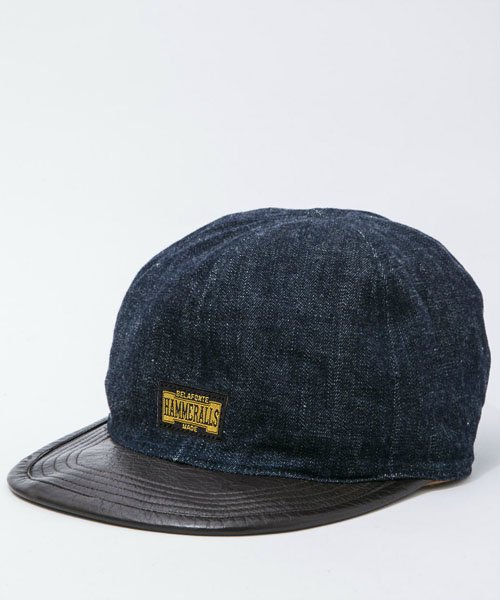<img class='new_mark_img1' src='https://img.shop-pro.jp/img/new/icons20.gif' style='border:none;display:inline;margin:0px;padding:0px;width:auto;' />RAGTIME LEATHER x DENIM CHOPPER CAP