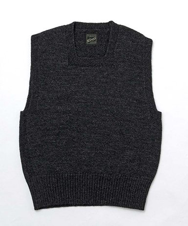 RAGTIME CIVILIAN CROSS KNIT VEST SQUARE NECK