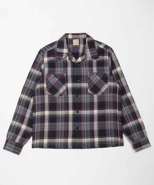 RAGTIME PLAID LONG POINT OPEN SHIRTS L/S