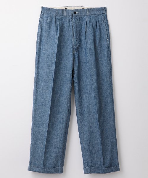 RAGTIME CHAMBRAY 2TACK TROUSERS