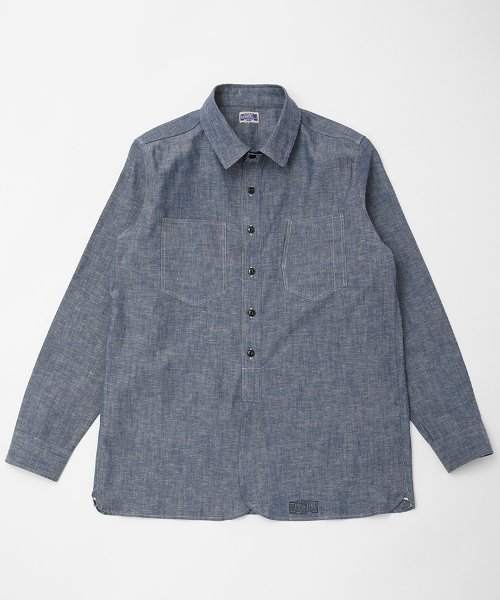 RAGTIME GZ-RAY19 CHAMBRAY CHIN STRAP SHIRTS L/S