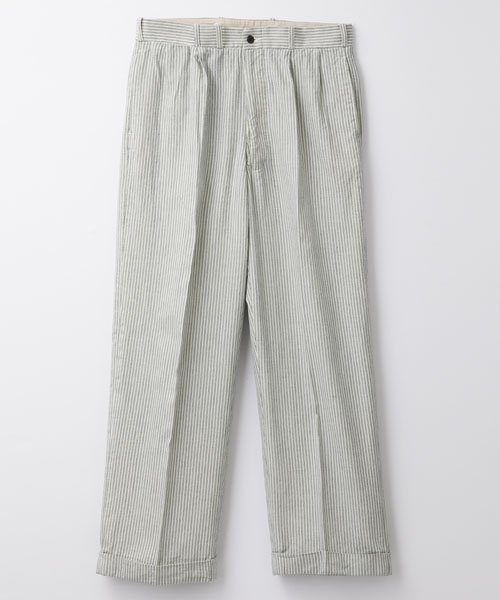 RAGTIME LOOP INDIGO STRIPE 2TACK TROUSERS