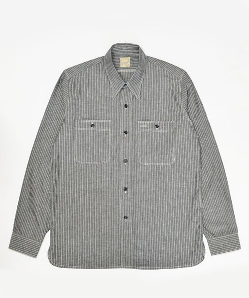 RAGTIME TRIPLE STITCH PINSTRIPE SHIRTS L/S ALTER E GO LIMITED