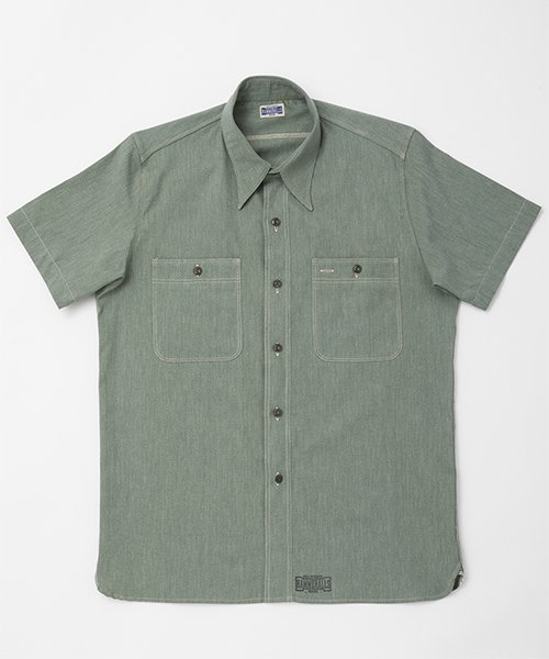 <img class='new_mark_img1' src='https://img.shop-pro.jp/img/new/icons20.gif' style='border:none;display:inline;margin:0px;padding:0px;width:auto;' />RAGTIME TRIPLE STITCH SHIRTS CHAMBRAY S/S