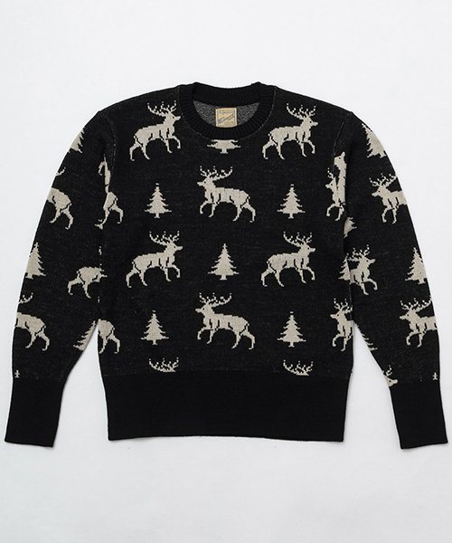 RAGTIME DEER PATTERN  SWEATER