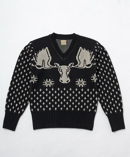 RAGTIME MOOSE V NECK SWEATER