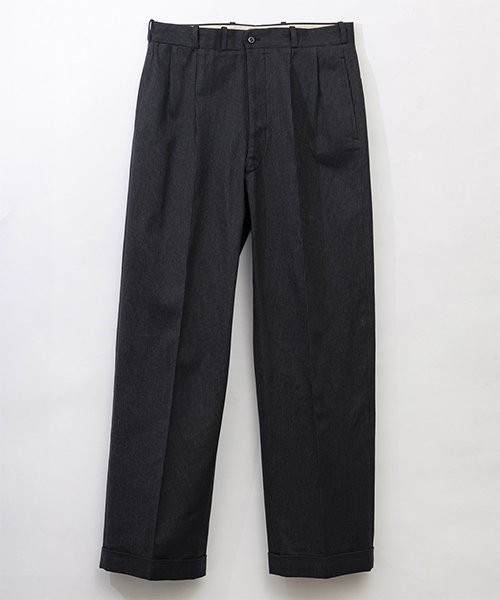 RAGTIME COTTTON NARROW GRAY STRIPE 2TACK TROUSERS
