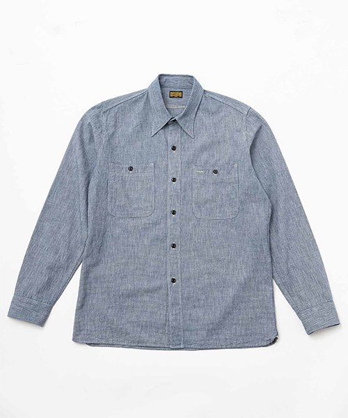 RAGTIME TRIPLE STITCH SHIRTS HOUNDS TOOTH DENIM
