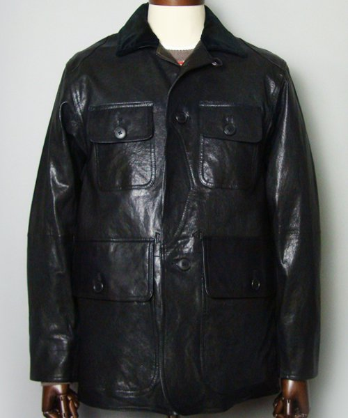 <img class='new_mark_img1' src='https://img.shop-pro.jp/img/new/icons20.gif' style='border:none;display:inline;margin:0px;padding:0px;width:auto;' />GOAT LEATHER  HUNTING JKT