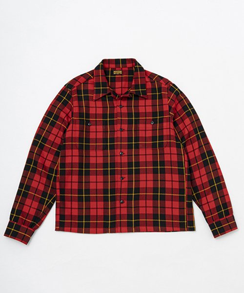 RAGTIME OG PLAID FLANNEL OPEN SHIRTS