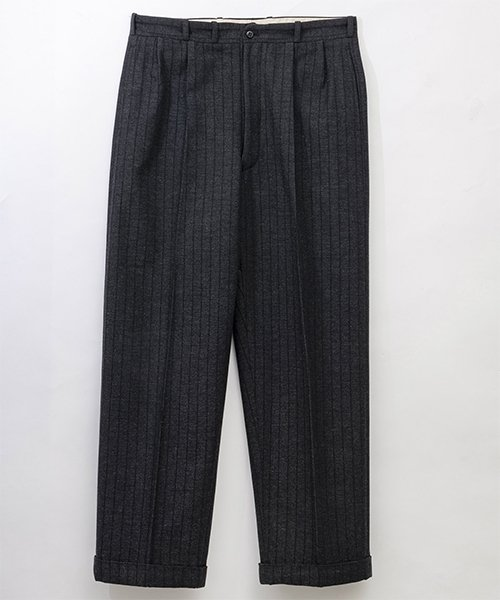 RAGTIME DEEP 2TACK WOOL STRIPE TROUSERS