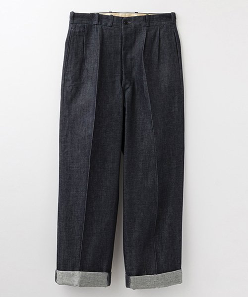 RAGTIME DENIM 2TACK TROUSERS ROLLED UP HEM
