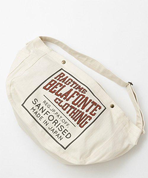 RAGTIME HERRINGBONE NEWSPAPER BAG   (RAGTIME CLOTHING SANFORIZED STAMP PRINT)
