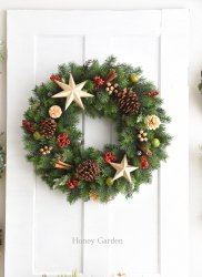 X'mas Star Wreath<img class='new_mark_img2' src='//img.shop-pro.jp/img/new/icons13.gif' style='border:none;display:inline;margin:0px;padding:0px;width:auto;' />
