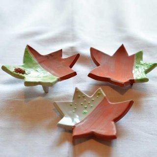 虫紅葉小皿 3枚組