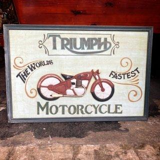 TRIUMPH ウッドサイン