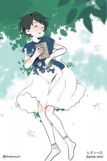 ぷっくりとしたフラワープリントのブックカバー/SIWA | 紙和 × minä perhonen