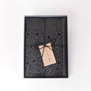 ぷっくりとしたフラワープリントのブックカバー(skyful)/SIWA | 紙和 × minä perhonen