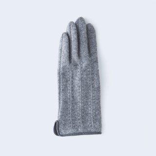 ふわりとした肌あたりにキレイなシルエット、大人のためのカシミヤ手袋(グレー)/tet.