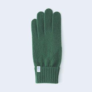 ふんわり手に優しいカシミヤ手袋(ゆったりサイズ・tenjiku・グリーン)/tet.