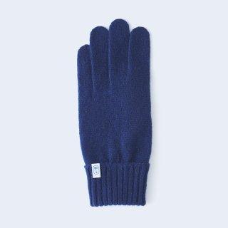 ふんわり手に優しいカシミヤ手袋(ゆったりサイズ・tenjiku・ネイビー)/tet.