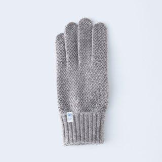 ふんわり手に優しいカシミヤ手袋(ゆったりサイズ・kanoko・ブラウンベージュ)/tet.