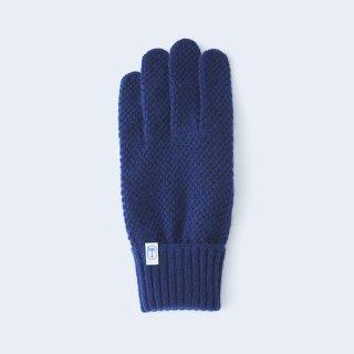 ふんわり手に優しいカシミヤ手袋(ゆったりサイズ・kanoko・ネイビー)/tet.