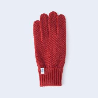 ふんわり手に優しいカシミヤ手袋(ゆったりサイズ・kanoko・レッド)/tet.
