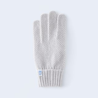 ふんわり手に優しいカシミヤ手袋(ゆったりサイズ・kanoko・ベージュミックス)/tet.