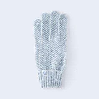 ふんわり手に優しいカシミヤ手袋(ゆったりサイズ・kanoko・ブルーミックス)/tet.