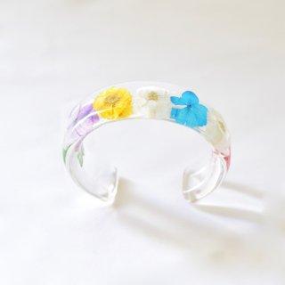 光透き通る、草花のバングル(ミックス)/nico design