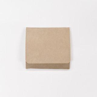 丈夫で柔らかい特別な和紙をつかった、スナップ付きコインケース(ナチュラル)/SIWA|紙和