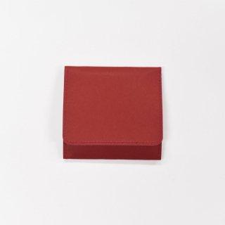 丈夫で柔らかい特別な和紙をつかった、スナップ付きコインケース(レッド)/SIWA|紙和