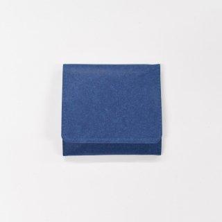 丈夫で柔らかい特別な和紙をつかった、スナップ付きコインケース(ダークブルー)/SIWA|紙和