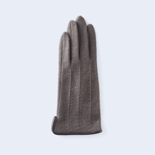 ふわりとした肌あたりにキレイなシルエット、大人のためのカシミヤ手袋(ブラウン)/tet.