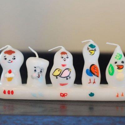 pichio candle(ピチオキャンドル) 5人組 絵付けキャンドル