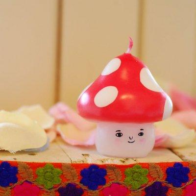 pichio candle(ピチオキャンドル) きのこ 絵付けキャンドル