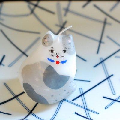 pichio candle(ピチオキャンドル) 座り猫 絵付けキャンドル