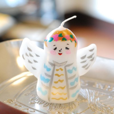 pichio candle(ピチオキャンドル) 天使 絵付けキャンドル