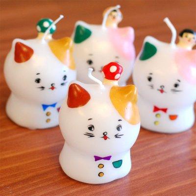 pichio candle(ピチオキャンドル) きのこネコとこけしネコ キャンドル