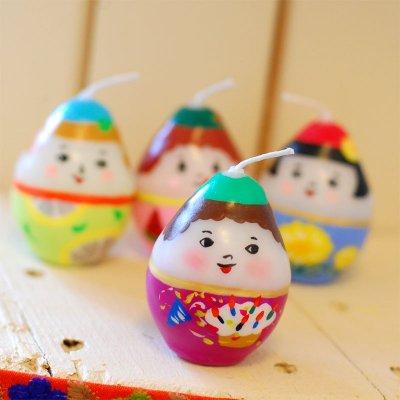 pichio candle(ピチオキャンドル) たまごちゃん 絵付けキャンドル