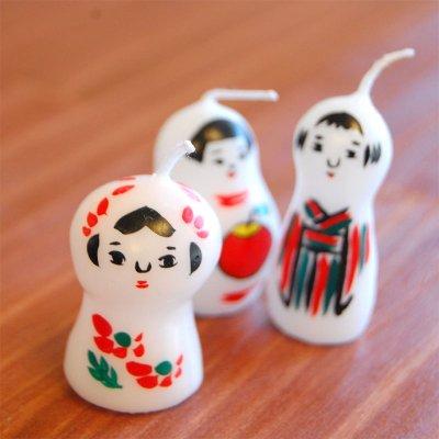 pichio candle(ピチオキャンドル) お一人さん 絵付けキャンドル