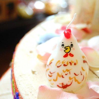 pichio candle(ピチオキャンドル) ニワトリ 絵付けキャンドル