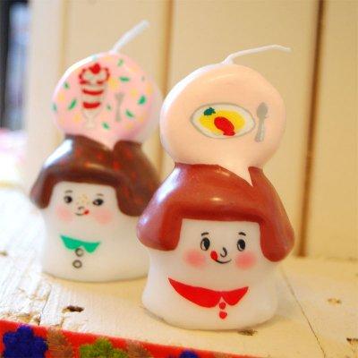 pichio candle(ピチオキャンドル) 女の子 絵付けキャンドル