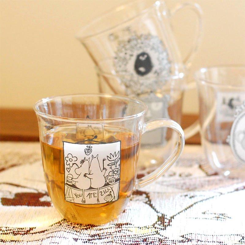 ムーミン(MOOMIN)モノトーン 耐熱ガラス マグカップ