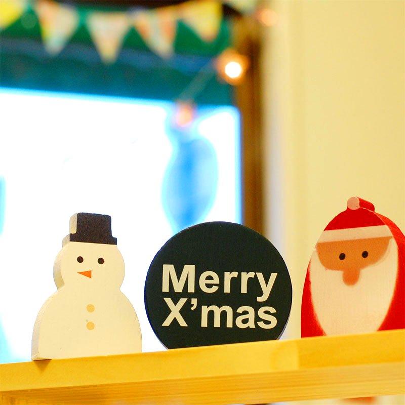 WOOD WORKING X'mas クリスマス モチーフ SET3 サンタ&スノーマン